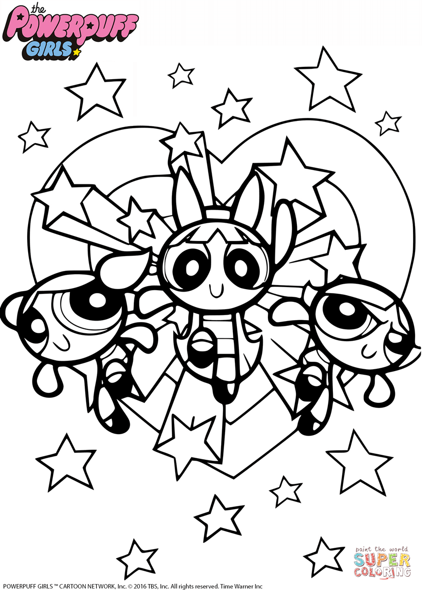 Powerpuff Girls Coloring Page Free Printable Coloring Pages