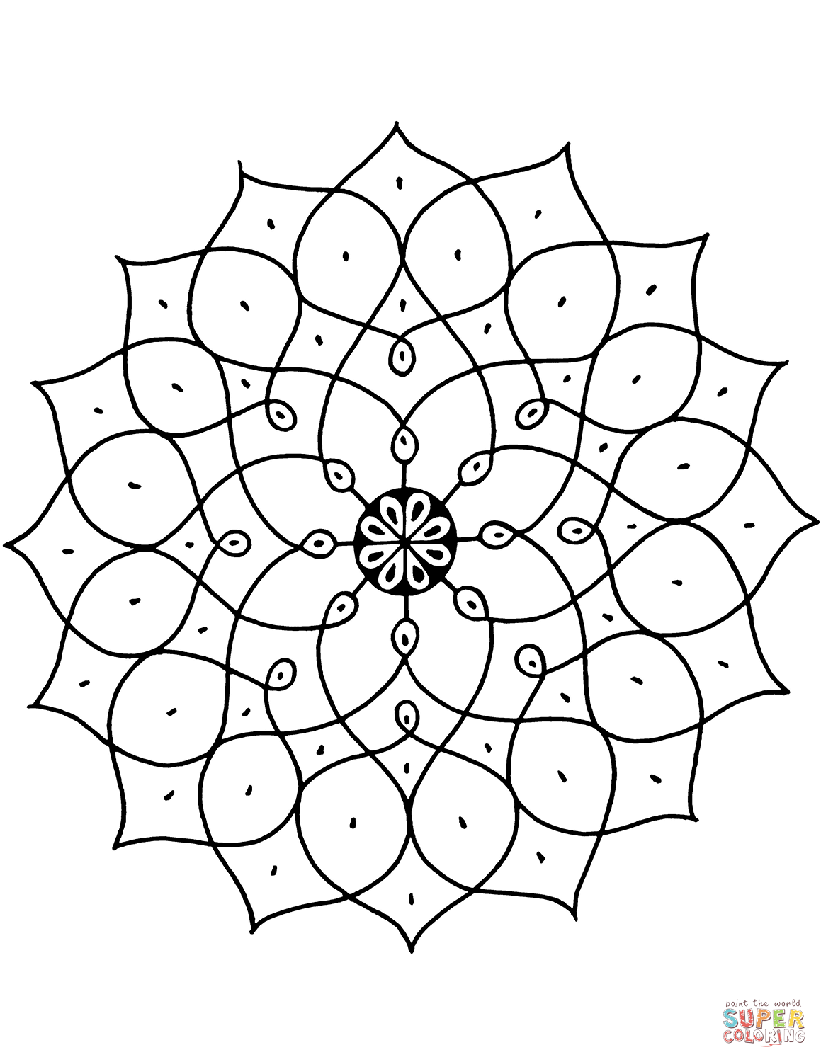 Indian Pattern Coloring Page Free Printable Coloring Pages
