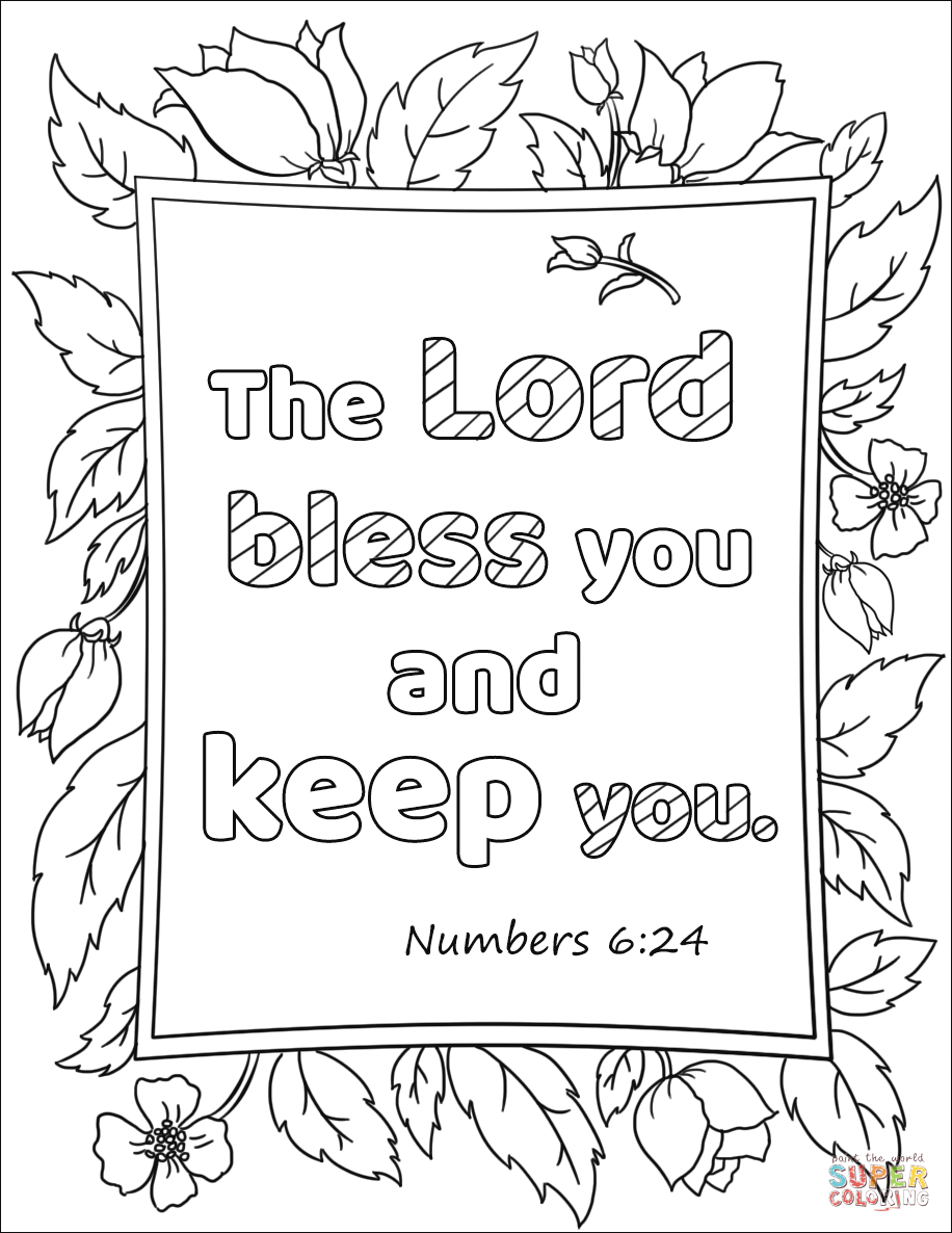 The Lord Bless You And Keep You Coloring Page Free Printable