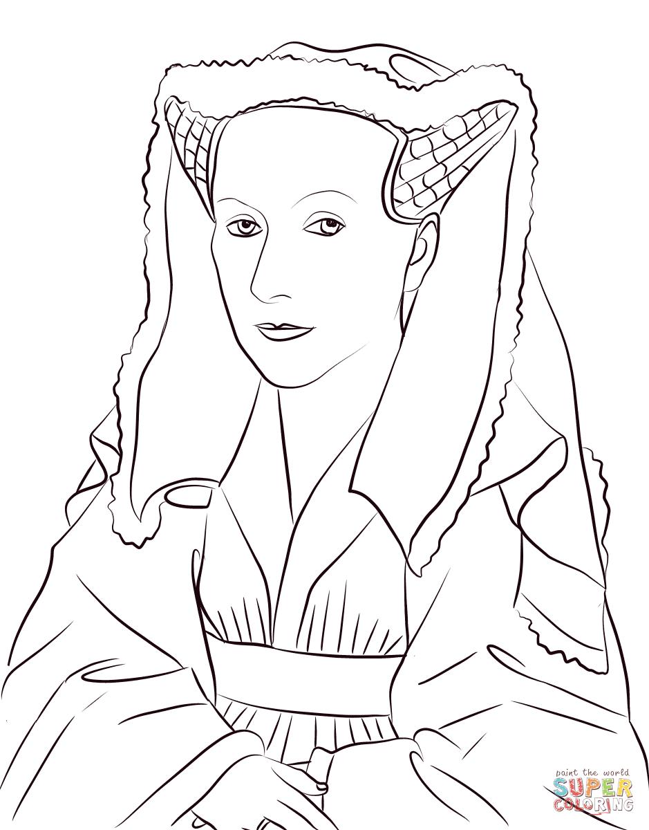 Margareta Van Eyck Coloring Page Free Printable Coloring Pages