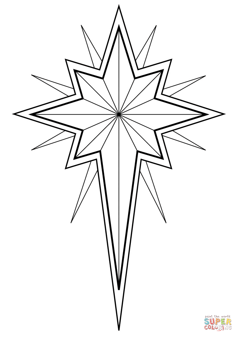 Free Coloring Pages Download Christmas Star Page Printable Of