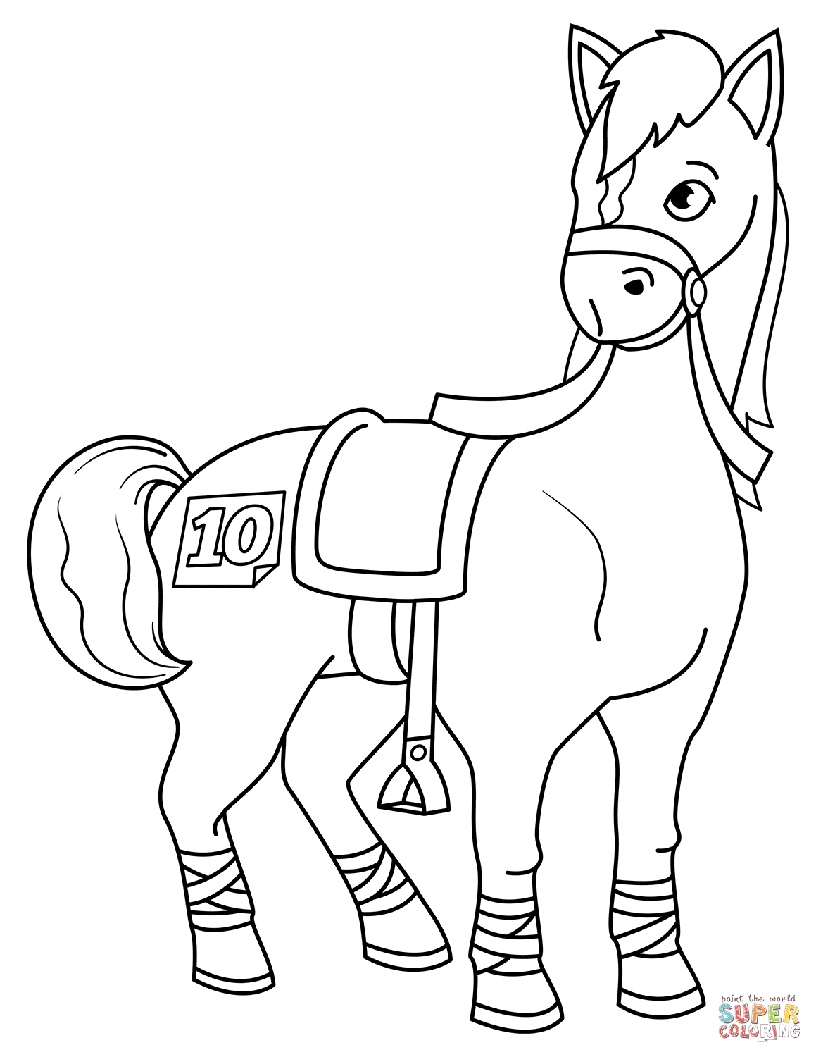 Free Coloring Pages Download Racehorse Page Printable Of Race Horse