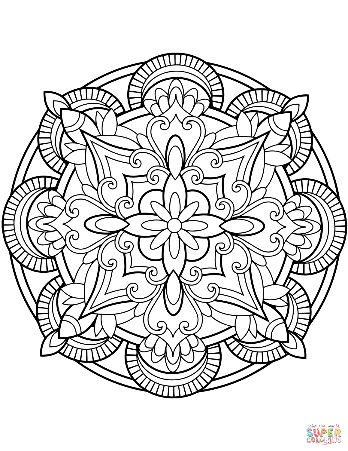 Flower Mandala Coloring Pages Free Coloring Pages Download   Xsibe ...