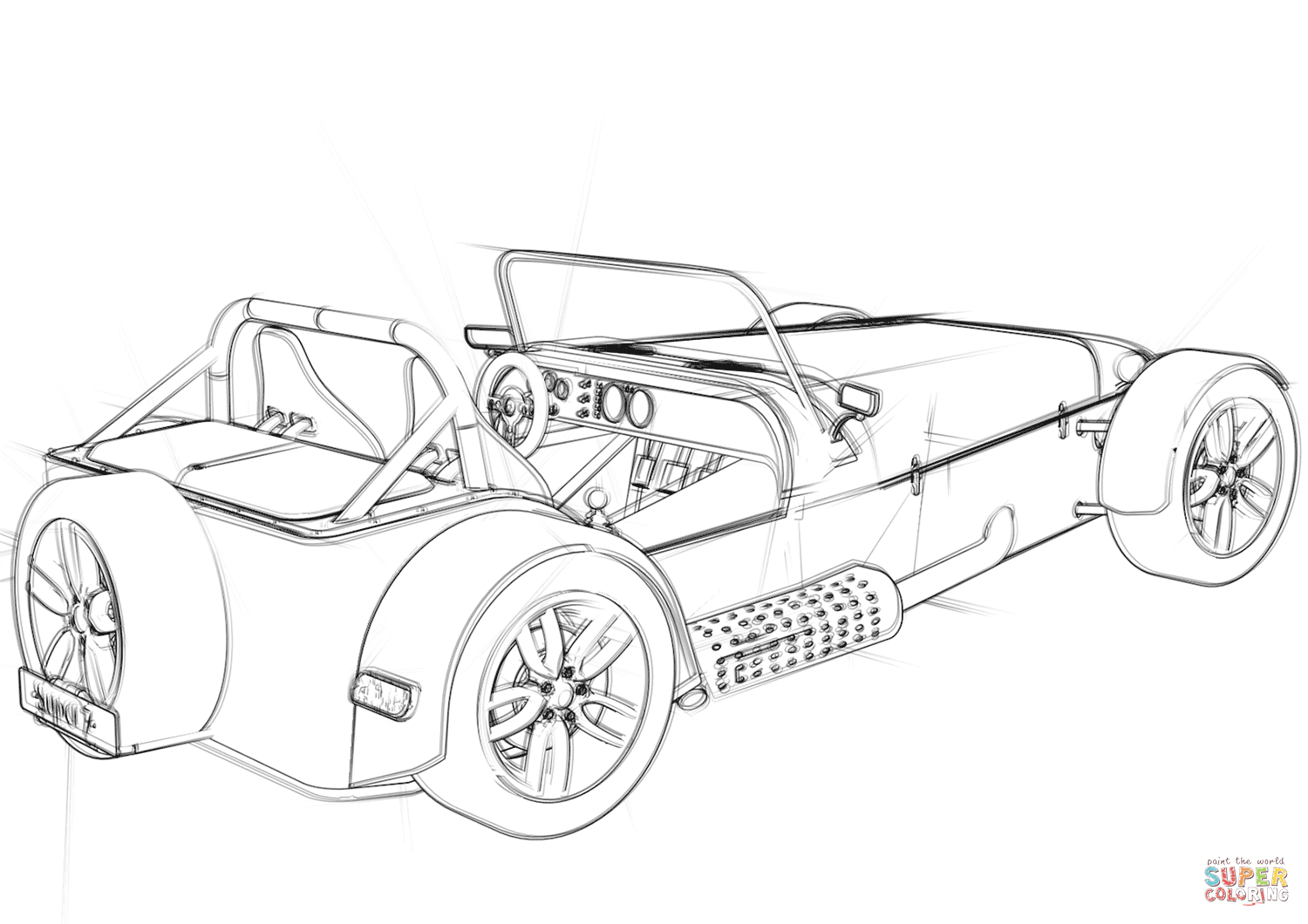Convertible Coupé Concept Car Coloring Page Free Printable