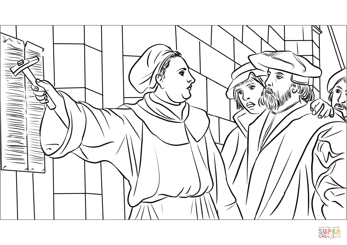 Martin Luther Coloring Page Free Coloring Pages Download | Xsibe ...
