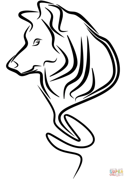 Wolf Tattoo Coloring Page Free Printable Pages Click The To View