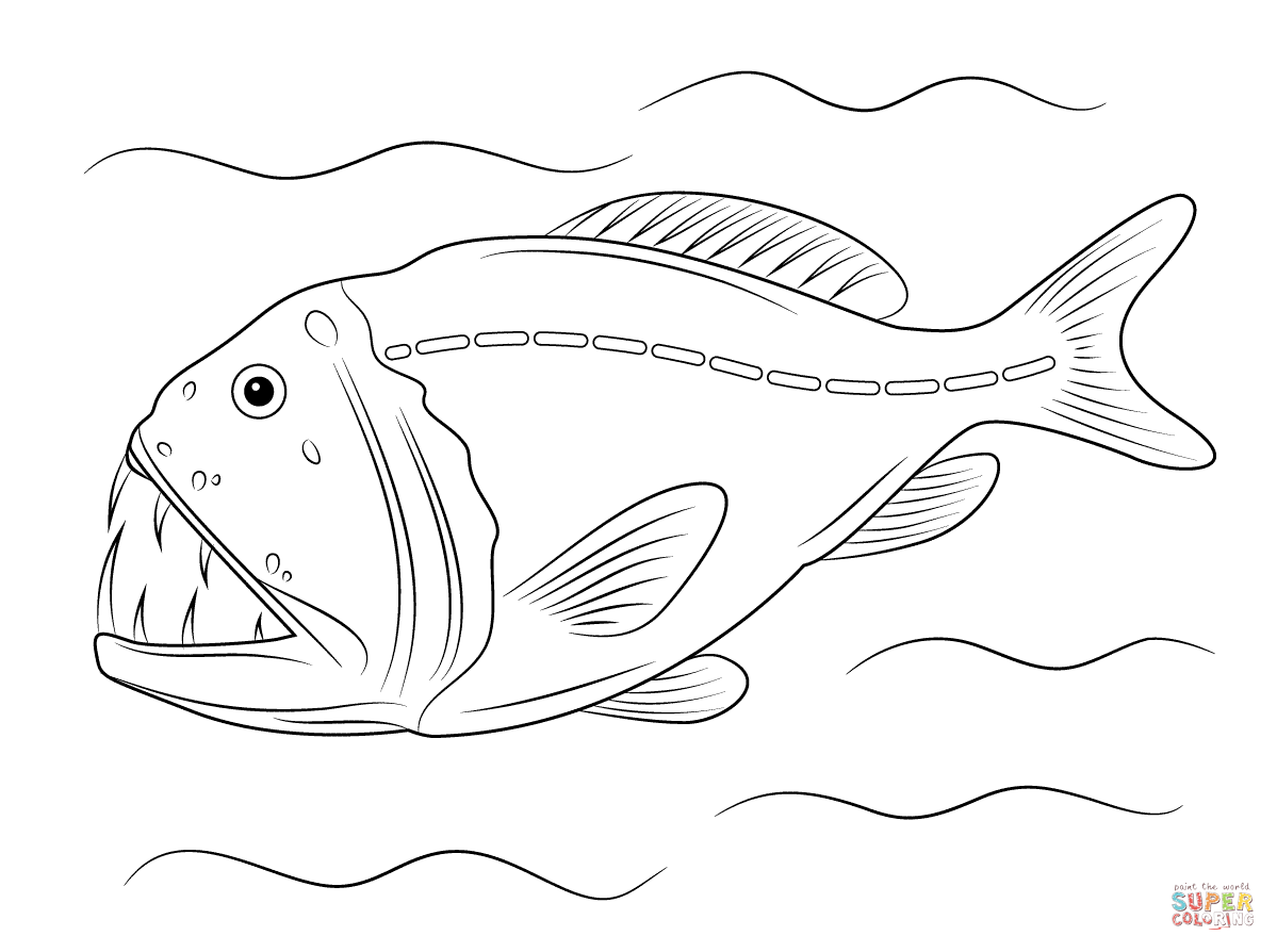 Viper Fishes Coloring Page Free Printable Coloring Pages