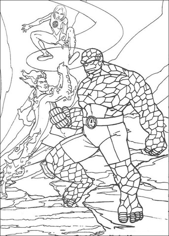 fantastic four coloring pages # 30