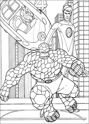 fantastic four coloring pages # 5