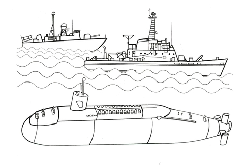 submarine coloring pages # 0