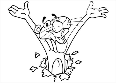 pink panther coloring pages # 7