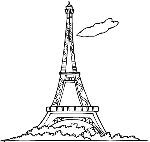 eiffel tower coloring pages # 1