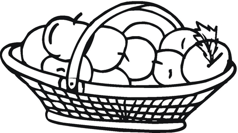 basket coloring page # 19