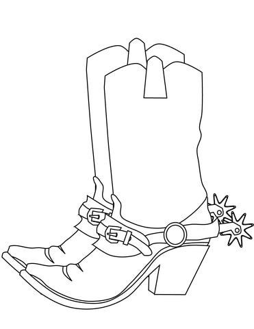 cowboy boots coloring pages # 4