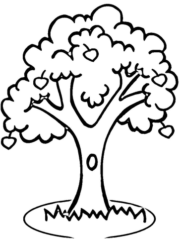 apple tree coloring pages # 6