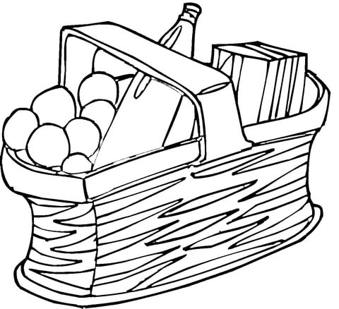 basket coloring page # 21