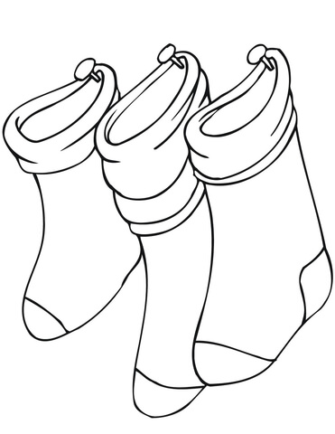 christmas stockings coloring pages # 8