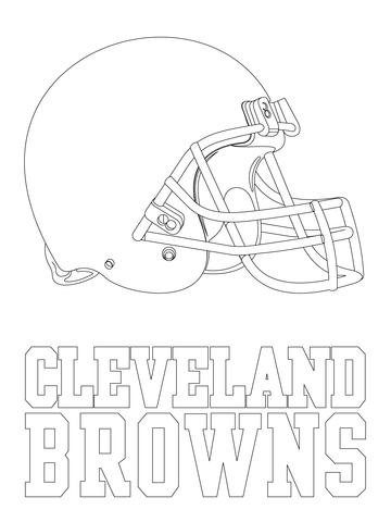 Cleveland Browns Logo coloring page | Free Printable ...