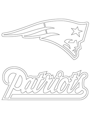 New England Patriots Logo coloring page | Free Printable ...
