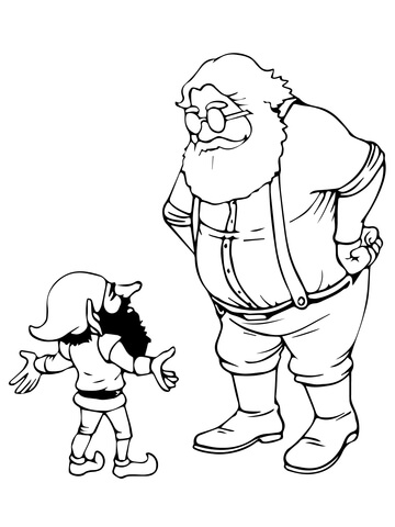 christmas elf coloring pages # 15