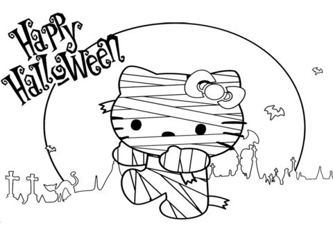 List of Hello Kitty Halloween Printable Coloring Pages Pict - Best ...