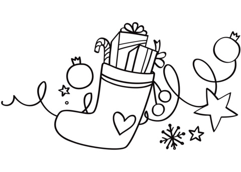 stocking coloring pages # 37