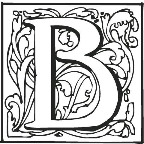Disegno Di Lettera B Da Colorare Disegni Da Colorare E