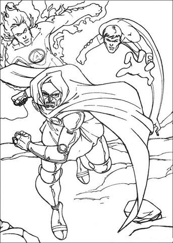 fantastic four coloring pages # 49