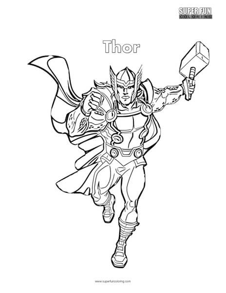 thor coloring page # 2