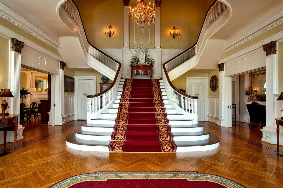 44 Beautiful And Unique Stair Design Ideas For Home | Front Door Stairs Design | Main Door Stair | 2Nd Floor | Villa | Brick | Residential