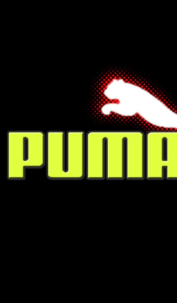 Puma logo in red, white and green Wallpaper Download 600x1024