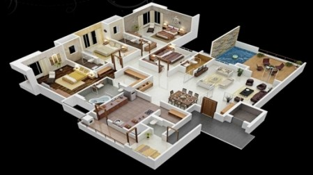 Best House Plans With 6 Bedrooms 4 Bedroom House Plans Kerala Style         Incredible 4 Bedroom House Floor Plans 3d 3 Bedroom House Modern Four  Simple 4 Bedroom House