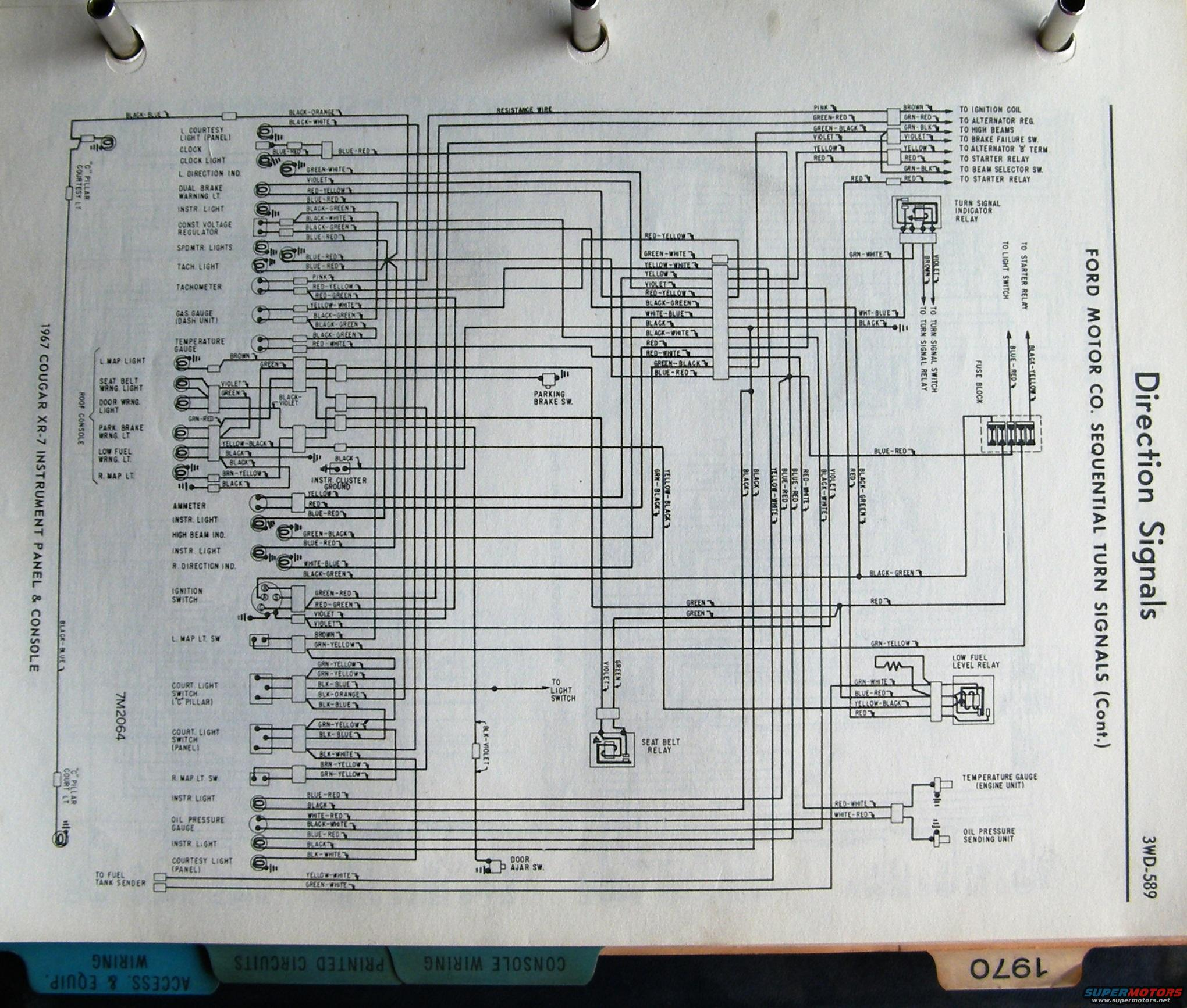 3d73dce 1967 Cougar Fuse Diagram