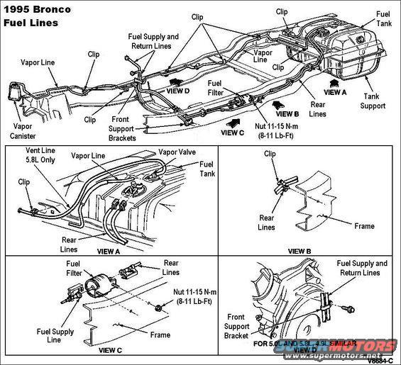 Ford F 1995 Regulator Fuel 150