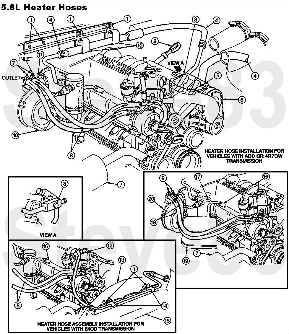 1990 ford bronco diagrams and schematics picture supermotors rh supermotors 1995 f150 heater hose diagram ford explorer heater hose diagram