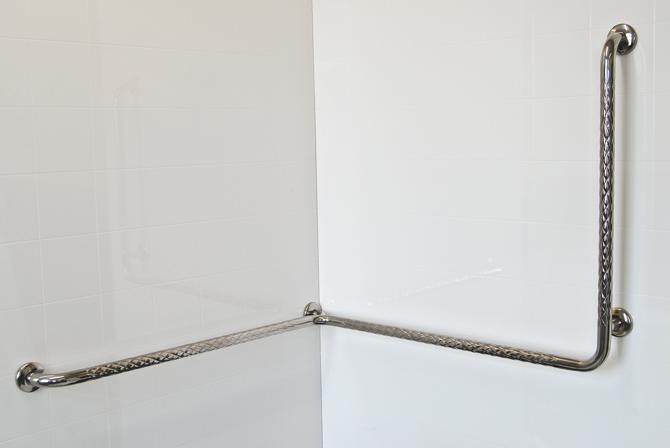 Stainless Steel Corner Shower Safety Rail Vertical