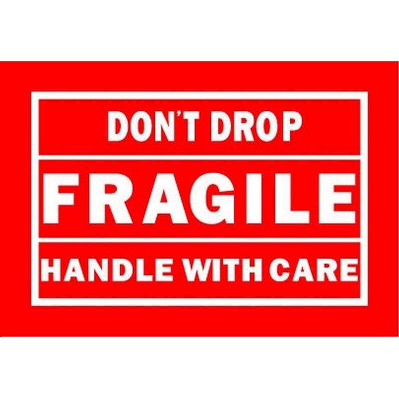 """4"""" x 6"""" Don't Drop Fragile Handle With Care Labels"""