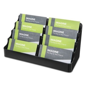 deflecto 90804 Recycled Business Card Holder  Holds 400 2 x 3 1 2     deflecto 90804 Recycled Business Card Holder  Holds 400 2 x 3 1 2 Cards   Eight Pocket  Black