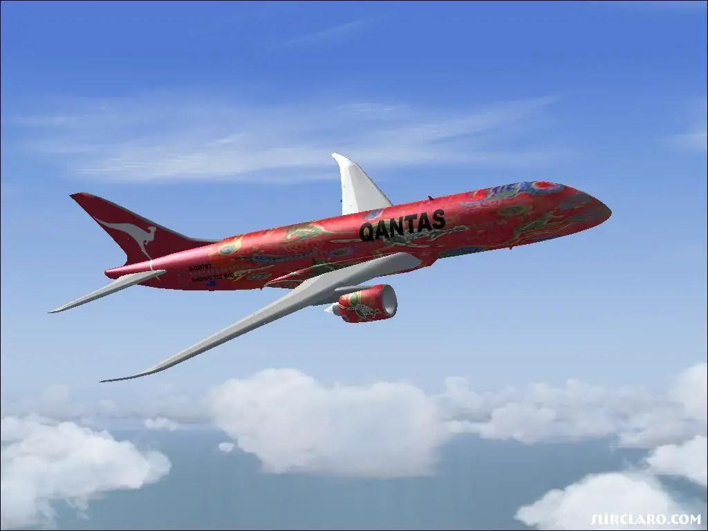 Fs2004 Boeing 7e7 800 Qantas 8121 Surclaro Photos