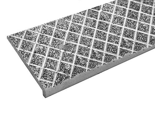 Anti Slip Aluminum Cast Nosings Stair Treads | 48 Inch Outdoor Stair Treads | Unfinished Pine | Nose Stair | Mat | Rubber Stair | Non Slip