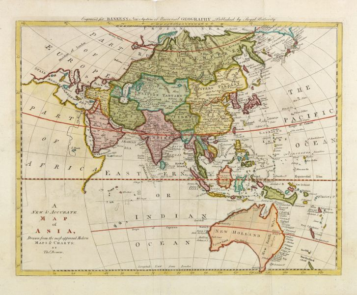 BOWEN   A new   accurate map of Asia  Drawn from the most approved     BOWEN  Th    A new   accurate map of Asia  Drawn from the most approved  modern maps   charts   by Thos  Bowen