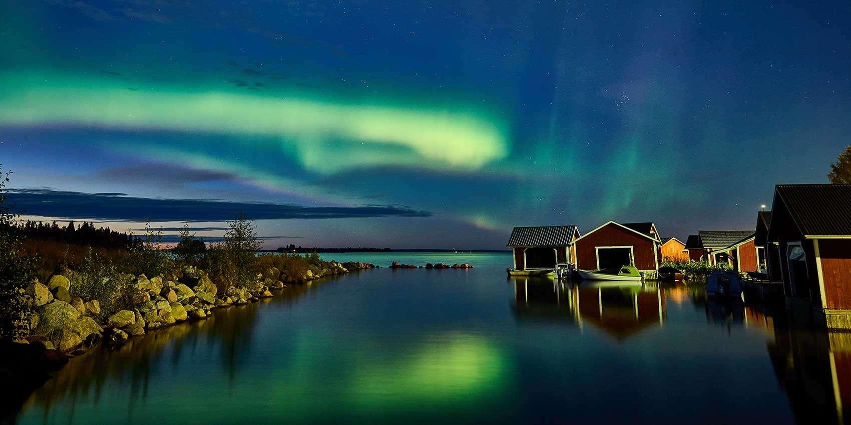 Finland December Northern Lights