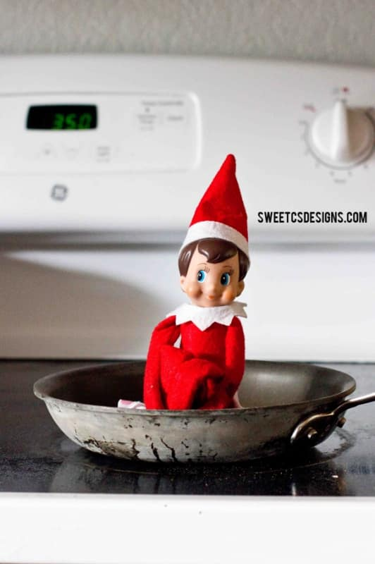 Quick And Easy Elf On A Shelf Kitchen Ideas Sweet Cs Designs