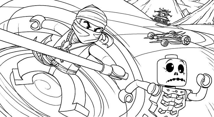 Zane Ninjago Coloring Sheet