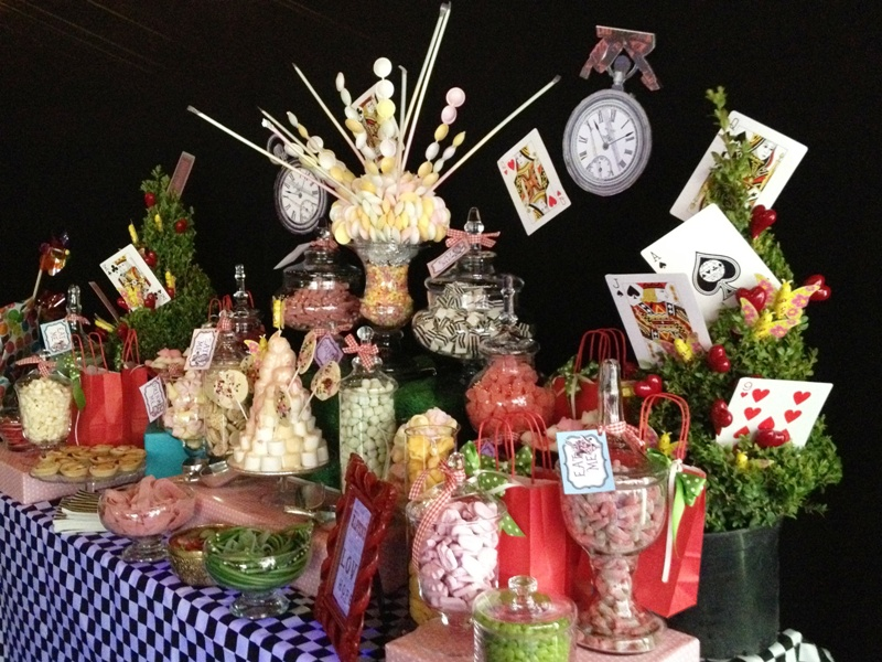 Candy Buffet Alice In Wonderland Themed Candy Buffets L