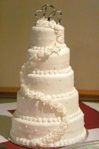 Beautiful Wedding Cake    Wedding Cakes Gallery  Image  Elegant 5 layer wedding cake