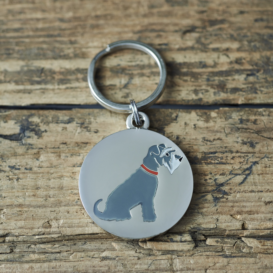 Grey Schnauzer Cufflinks And Tag Gift Set 163 35 00