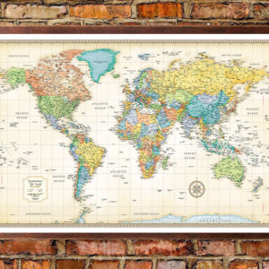 Rand McNally Classic Edition World Wall Map Poster Rand McNally Classic Edition World Map Poster