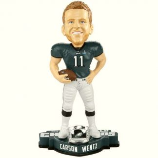 Philadelphia Eagles Carson Wentz Super Bowl LII Champions Player Bobblehead