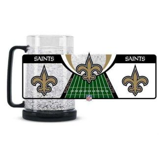 New Orleans Saints Crystal Freezer Mug